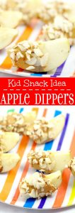 Apple Dippers are an easy healthy snack for kids. What a great idea! Homemade snacks are the best