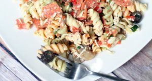 A delicious pasta salad recipe packed with veggies and flavor. Great for cookouts and all year long. From TheGraciousWife.com
