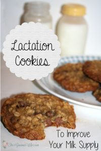 Lactation Cookies Recipe- A chocolate chip oatmeal cookie recipe to help increase milk production for breastfeeding moms. Give your baby girl or baby boy the breast milk they need! From TheGraciousWife.com