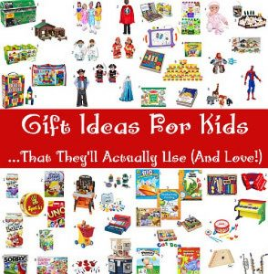 Gift Ideas for Kids that they'll still play with after the shiny new-ness wears off. Toys that encourage imaginative play and learning and that kids will actually use. Imaginative play gifts are great for kids for Christmas and birthdays.