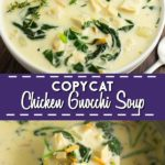 Copycat Olive Garden Chicken Gnocchi Soup is an even better replica of the restaurant version with a rich, creamy base and soft pillowy gnocchi potato dumplings.