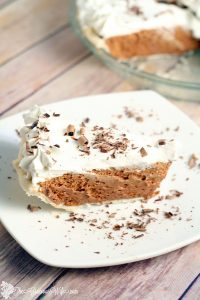 French Silk Pie Recipe - A creamy chocolate dessert french silk pie recipe with an easy perfect pie crust. This French Silk Pie recipe has none of the grittiness that I've had in other recipes. It's perfect! My favorite!