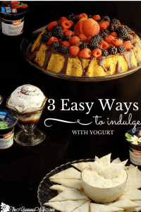 3 Easy Dessert Recipes to indulge with using yogurt as a main ingredient. Quick and easy dessert recipe ideas!