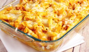 Hawaiian Pizza Pasta Bake fb