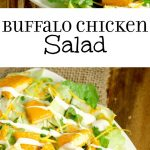 Buffalo Chicken Salad Recipe - an easy salad recipe with buffalo chicken tenders. Super tasty lunch idea, or even dinner salad!