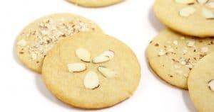 Almond Brown Sugar Sand Dollar Cookies fb