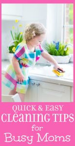 House Cleaning Tips for Busy Moms - 14 household cleaning tips and tricks for the kitchen, bathroom, and more. Some of these are real sanity savers. Love the laundry basket idea.