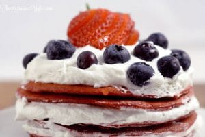 patriotic red velvet berry pancakes 4