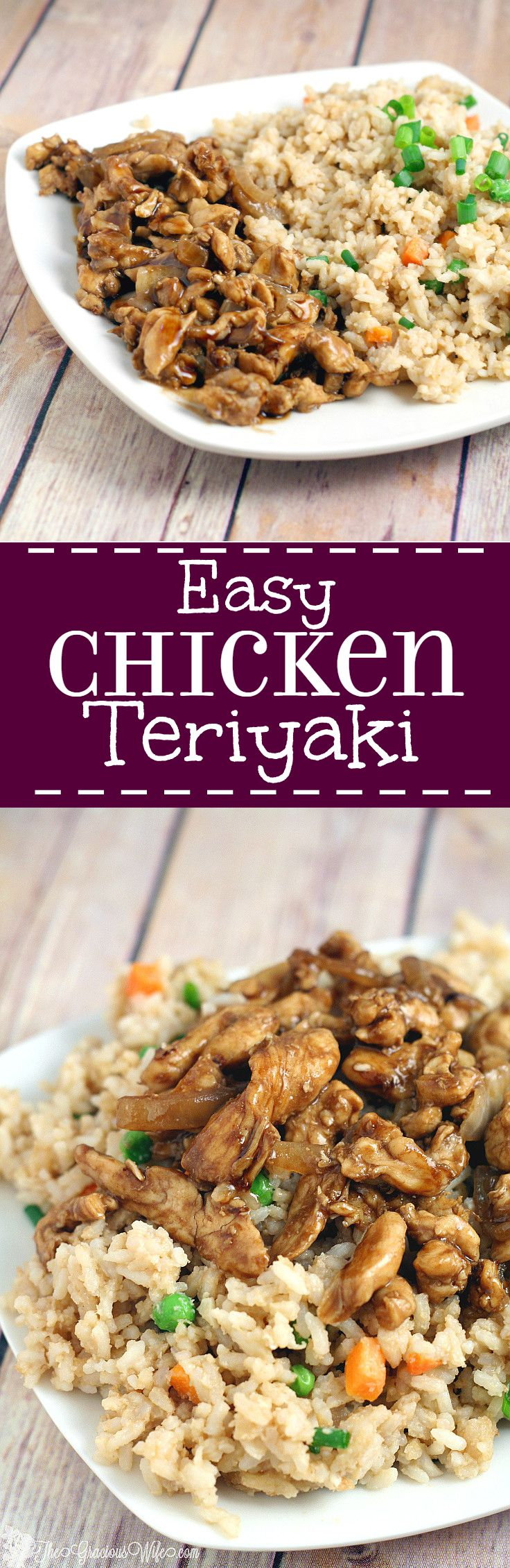 Easy Chicken Teriyaki Recipe is a quick and easy dinner idea that the whole family will love. My kids gobble this up!