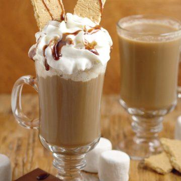 Homemade Smores Coffee Creamer - a tasty sweet homemade coffee creamer recipe, perfect for a Summer morning breakfast.