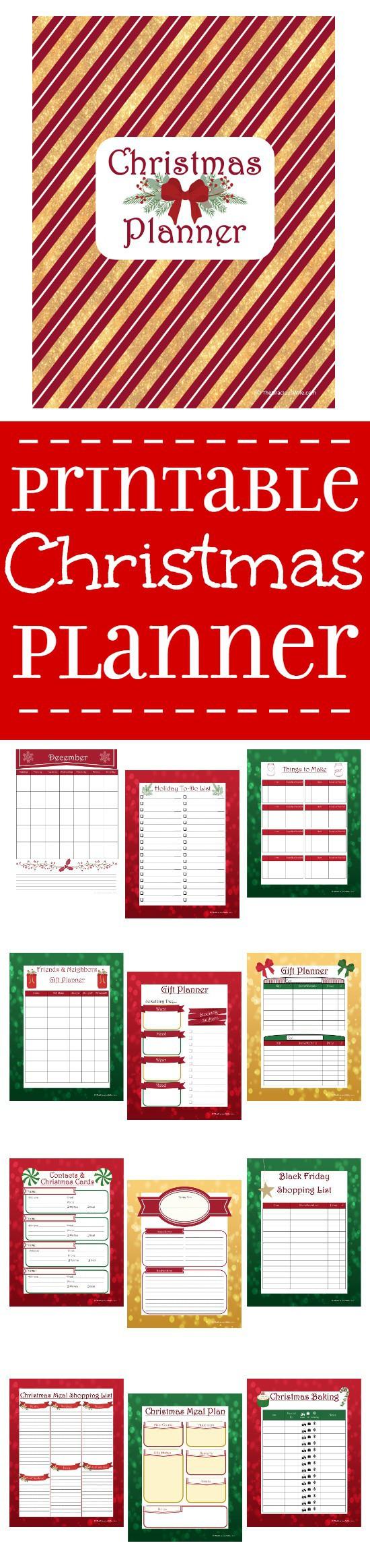 Printable Christmas Planner | The Gracious Wife