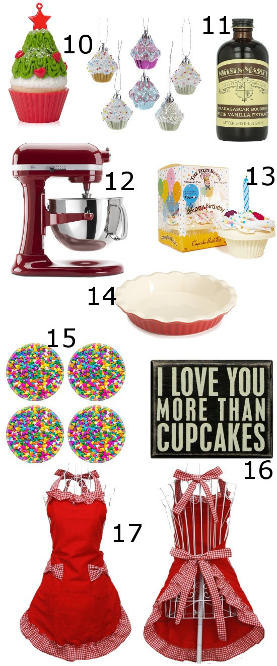 Gift Ideas for the Baker are perfect Christmas gift ideas for the sweets-lover in your life. From pretty to practical, these Baker gift ideas will make them smile.