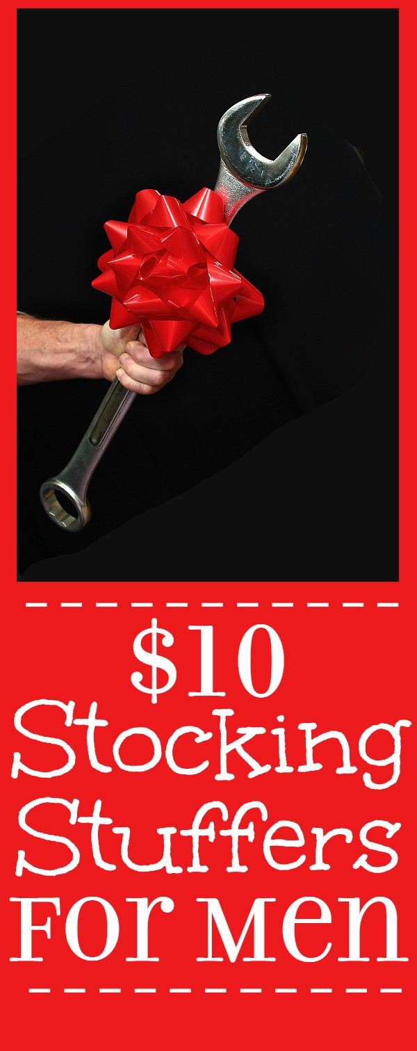 Christmas gifts and stocking stuffers ideas for men. 25 Stocking Stuffer Ideas for Men, all under $10.  Fill your man's stocking with goodies he'll love with these fun, practical, and manly Stocking Stuffer ideas for men.