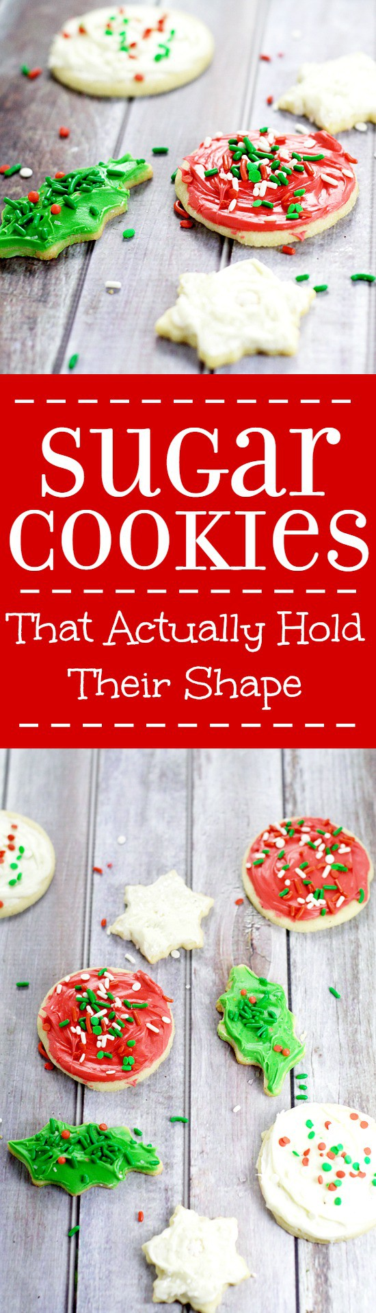 Sugar Cookies that Hold Their Shape. My grandma's recipe for the BEST soft, chewy sugar cookies that hold their shape. We use this recipe for perfect sugar cookies for Christmas, birthdays, and every time there's a sugar cookie craving.