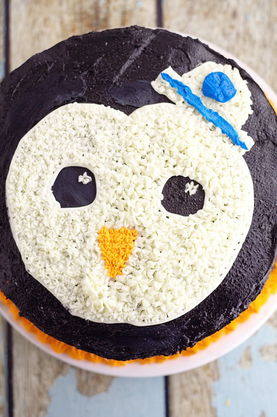Peso Birthday Cake For An Octonauts Party A Simple But Adorable Penguin