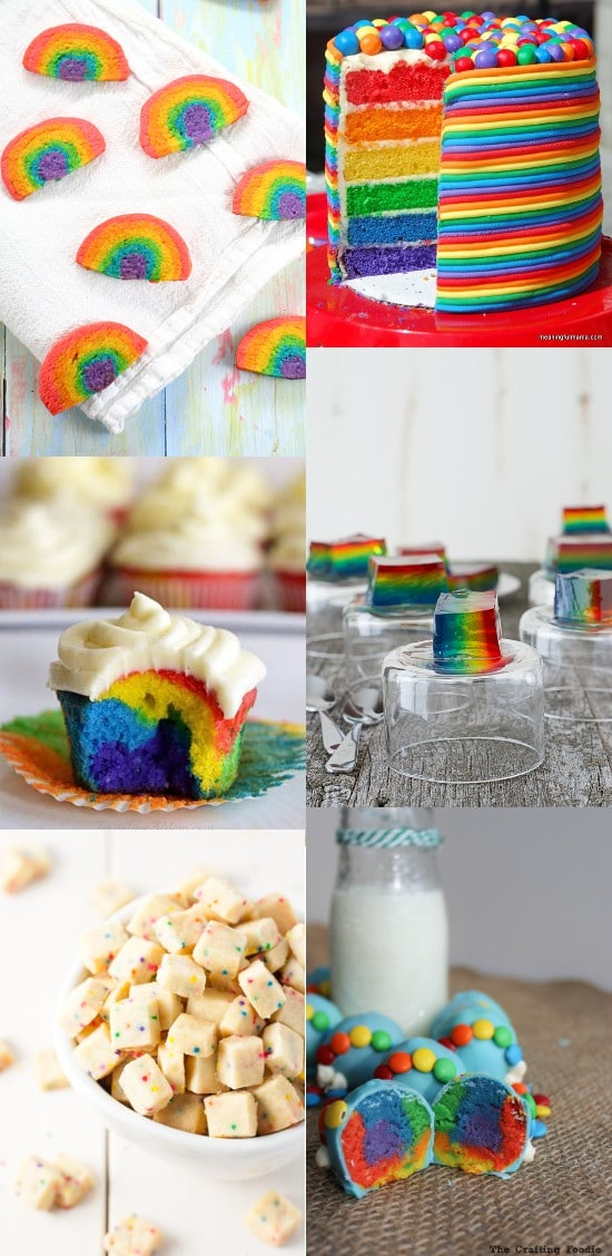 Rainbow Recipes. Fun and delicious Rainbow Recipes and treats that are perfect for St Patrick's Day or a rainbow birthday party! The kids are sure to go crazy over these! I seriously love these!