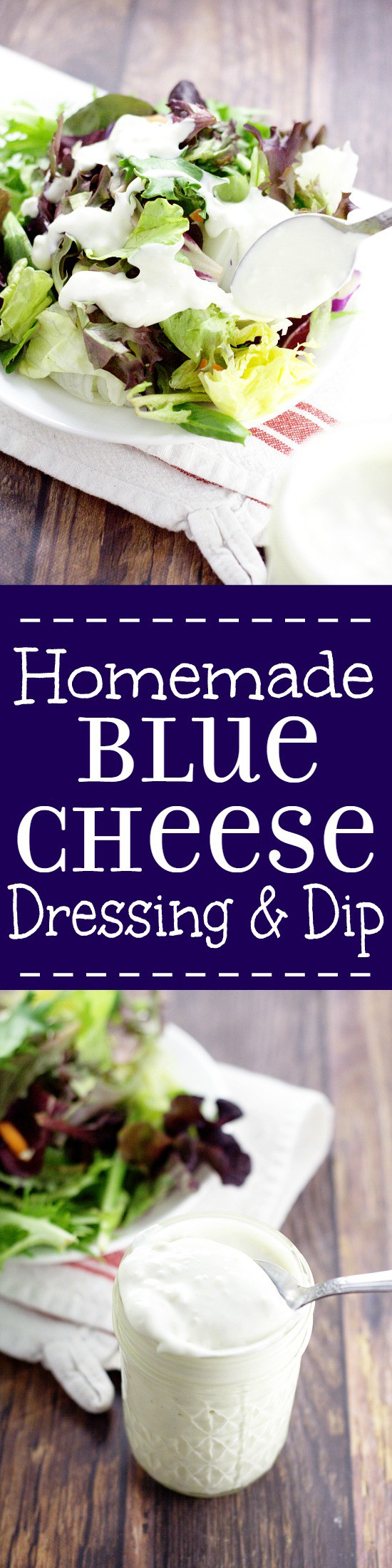 Homemade Buttermilk Blue Cheese Dressing and Dip. This creamy, rich Homemade Buttermilk Blue Cheese Dressing recipe is the perfect dip for hot wings or dressing for your favorite salad. Definitely trying this!
