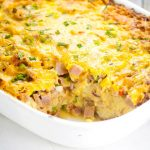 Denver Omelet Casserole Recipe -Make this easy, make ahead overnight Denver Omelet Casserole recipe for a simple and easy egg breakfast casserole that's guaranteed to be a hit. Love that you can make this breakfast recipe overnight and pop it in the oven in the morning.