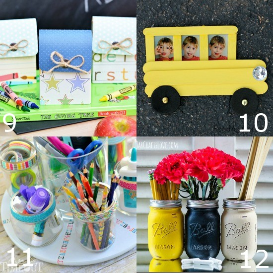 20 Fun and Adorable Back to School Crafts -Have some fun with back-to-school this year with some fun new DIY arts and crafts projects like these 20 adorable and easy Back to School Crafts.