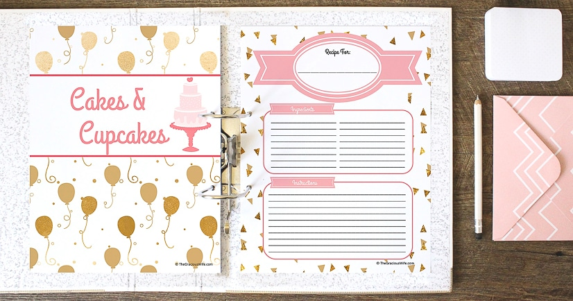 It's just a picture of Free Printable Recipe Binder Kit in digital scrapbooking