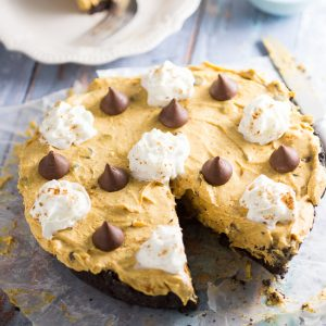 No Bake Pumpkin Chocolate Cheesecake