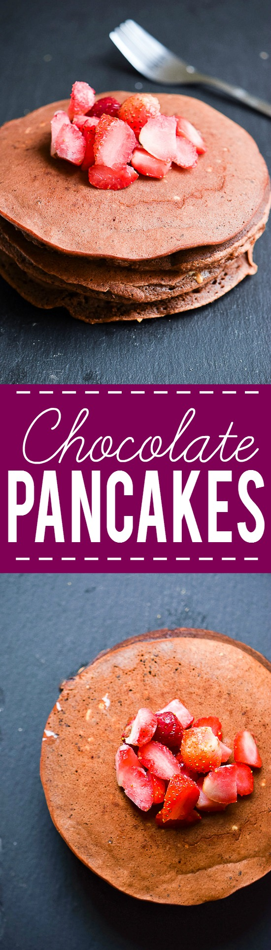 Chocolate Pancakes Recipe -A decadent way to start the day, these Chocolate Pancakes will add a sweet note to your morning. Top them with berries, whipped cream, or powdered sugar! Amazing for a delicious, decadent, quick and easy breakfast recipe!