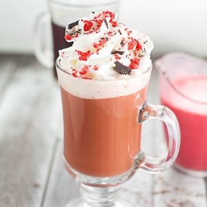 Homemade Red Velvet Coffee Creamer Recipe - Have your cake and drink it too with this delightful and decadent homemade Red Velvet Coffee Creamer recipe. Like cake in a cup!