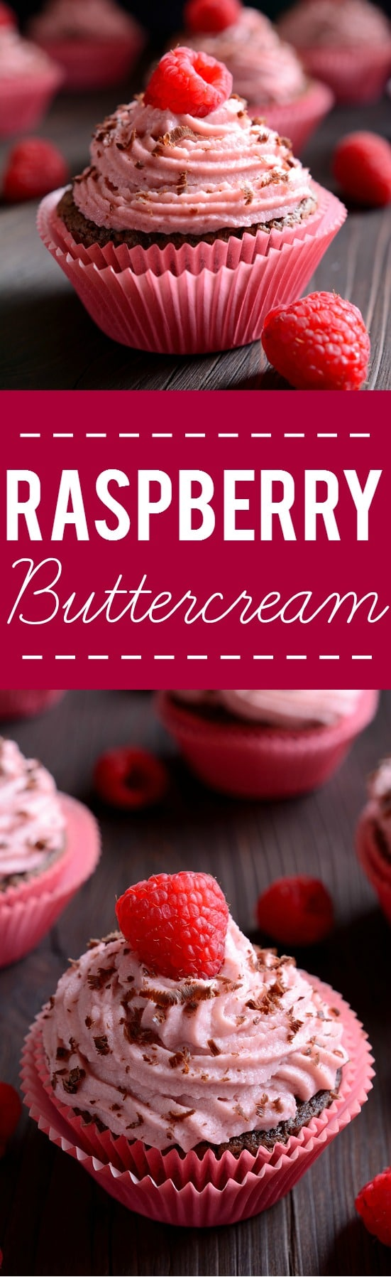 Raspberry Buttercream Frosting Recipe - Sweet and tangy raspberry buttercream recipe is easy to make and is the perfect finishing touch for your favorite cake or cupcakes!
