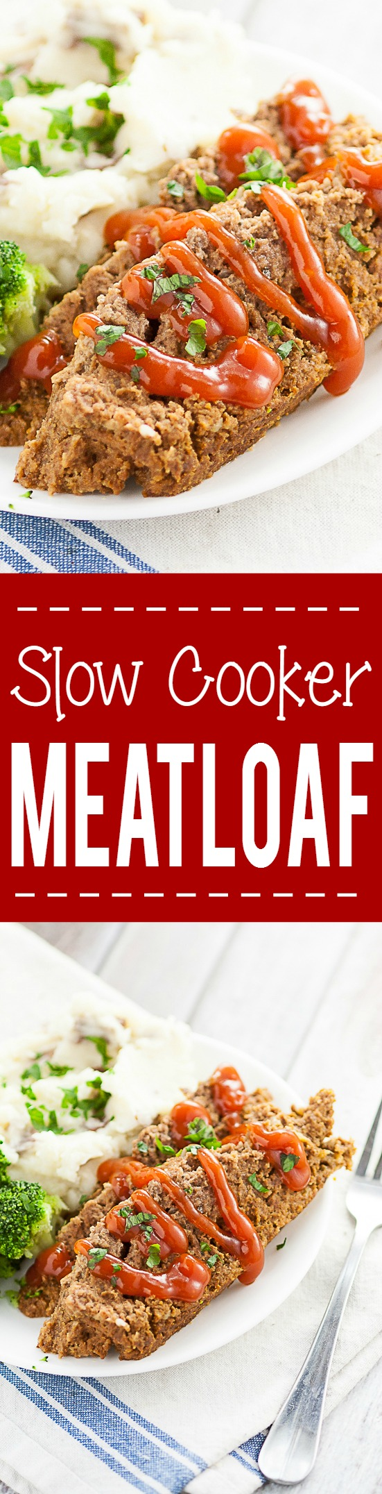 Slow Cooker Meatloaf Recipe - A simple and delicious easy Slow Cooker Meatloaf recipe using a juicy, classic meatloaf recipe and cooked in the Crock Pot.  Super delicious and easy Crockpot family dinner recipe.