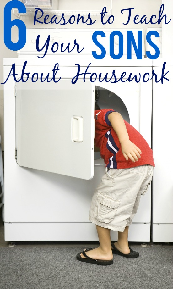 6 Reasons to Teach Your Sons about Housework - Housework is an important skill for everyone to learn, including boys.  Put your boys to work and check out these 6 reasons to teach your sons about housework. Parenting Tips