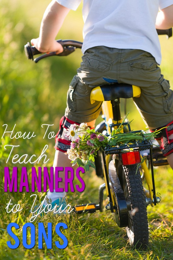 6 Tips for Teaching Manners to Your Sons -Being polite, thoughtful, and kind is an important part of making friends and life in general. Use these 6 Tips for Teaching Manners to Your Sons to help turn your sons into respectful and respectable men. Parenting tips