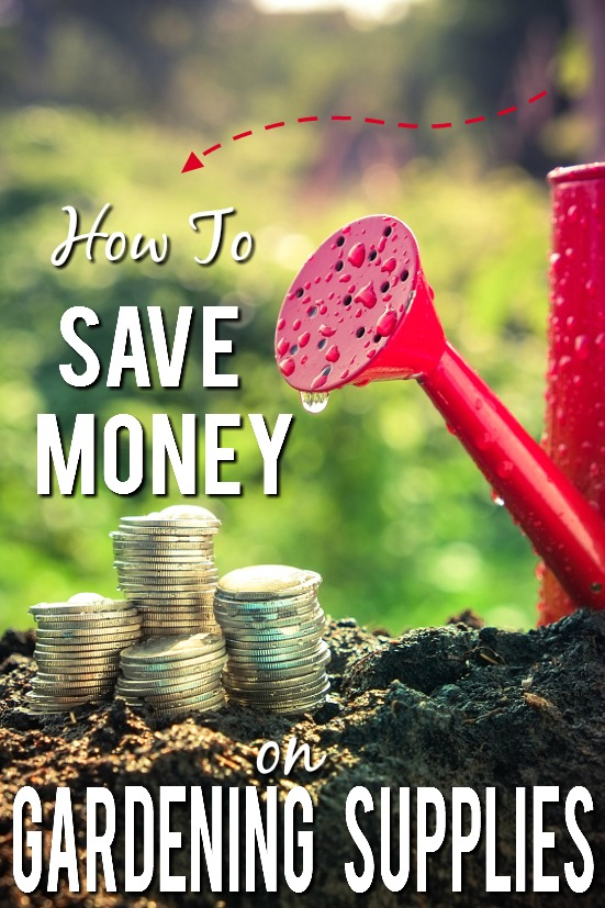 6 Tips to Save Money Gardening Supplies - Start your garden off the right way. On a budget! Grow a happy, healthy garden without breaking the bank with these 6 Tips to Save Money on Gardening Supplies!