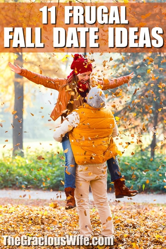 11 Frugal Fall Date Ideas for couples - Enjoy the Fall season with your special someone while still on a budget with these 11 Frugal Fall Date Ideas that you'll both love. These are great date night ideas! So fun!