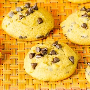 Pumpkin Chocolate Chip Cookies Recipe - Soft, chewy Pumpkin Chocolate Chip Cookies are the perfect cookies for Fall with gooey chocolate chips and your favorite pumpkin spice!