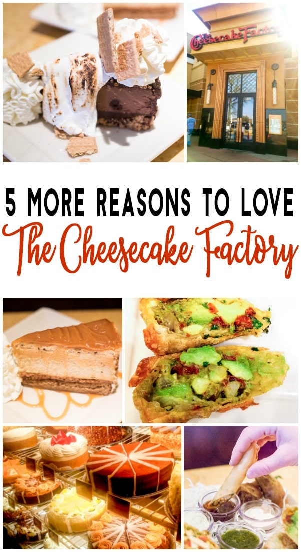 Whether you've loved The Cheesecake Factory restaurant your whole life or found them as a recent passion, here are five reasons to love The Cheesecake Factory Even More! If you thought their menu, food, recipes, and especially avocado egg rolls were good, just wait until you hear this!