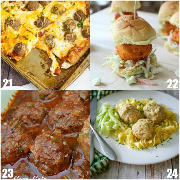 84 Meatball Recipes -If you love meatballs, you'll love these 84 Meatball Recipes with delicious ways to make, use, and eat meatballs from dinner to appetizers. So many options! Easy, homemade, crockpot, baked, Italian, honey garlic, BBQ, Swedish, grape jelly.... Wow. These all look amazing!