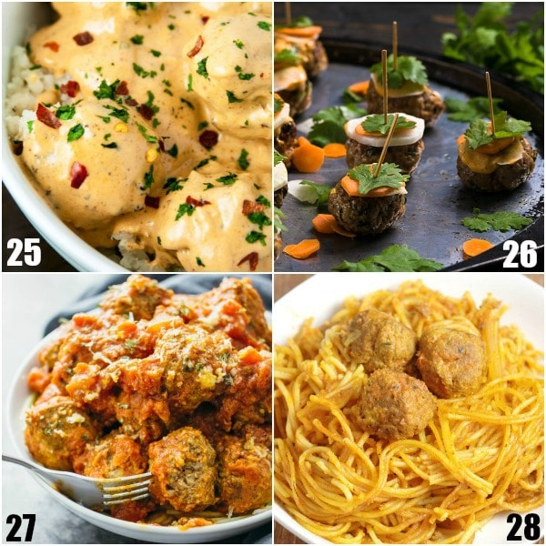 84 Meatball Recipes - If you love meatballs, you'll love these 84 Meatball Recipes with delicious ways to make, use, and eat meatballs from dinner to appetizers. So many options! Easy, homemade, crockpot, baked, Italian, honey garlic, BBQ, Swedish, grape jelly.... Wow. These all look amazing!
