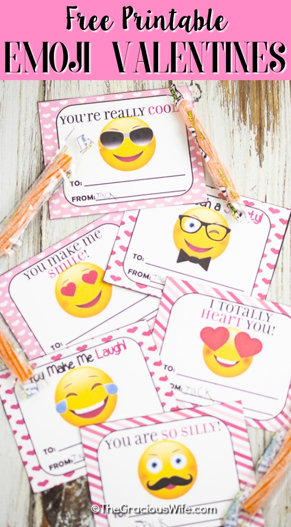 Adorable and fun FREE Printable Emoji Valentines that your kids will love passing out to their friends. Super easy to make! Just download, print, and cut! #valentines #valentinesday #valentinescards