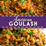 This warm comforting American Goulash is made with simple ingredients, all in one pot! Easy, home-style comfort food that's perfect for family dinner. Super easy ground beef recipe for dinner that the whole family will love. It's even freezer friendly. Recipe includes video!